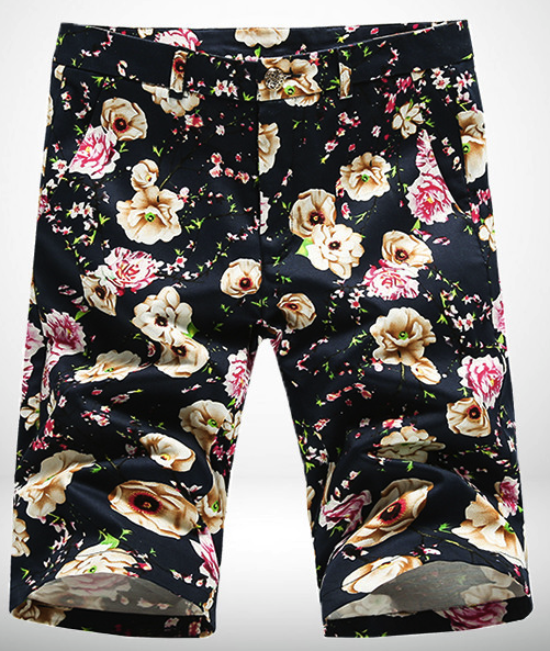 mens floral shorts luxury style